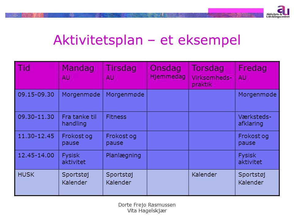 Aktivitetsplan – et eksempel
