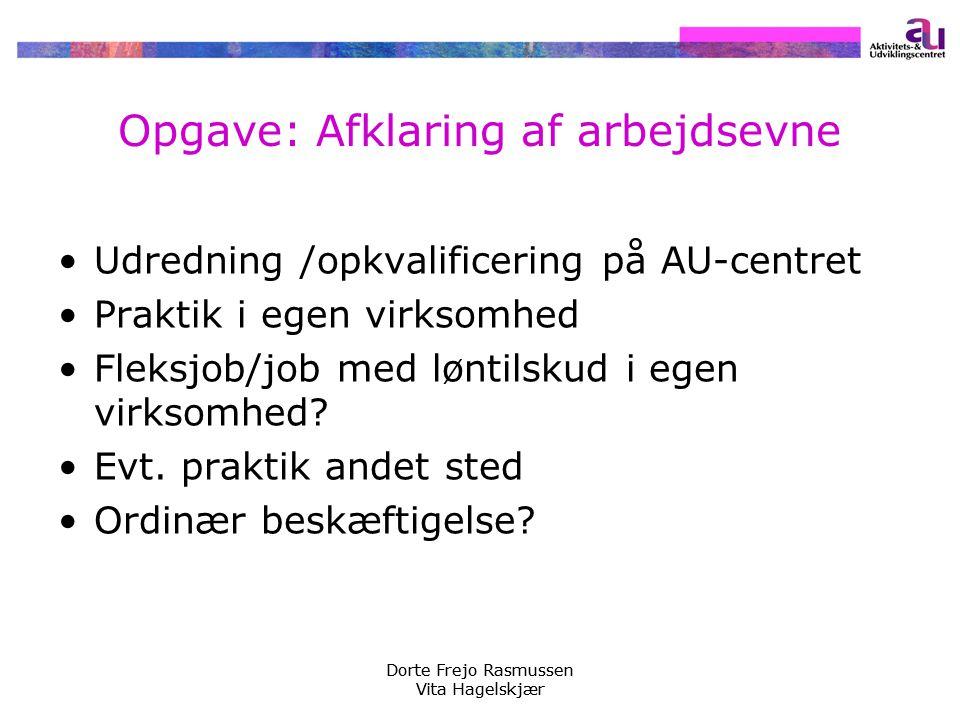 Opgave: Afklaring af arbejdsevne