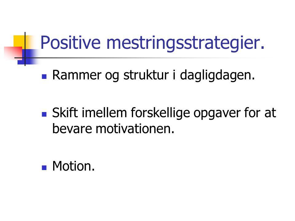 Positive mestringsstrategier.