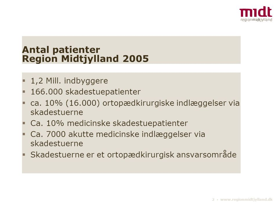 Antal patienter Region Midtjylland 2005