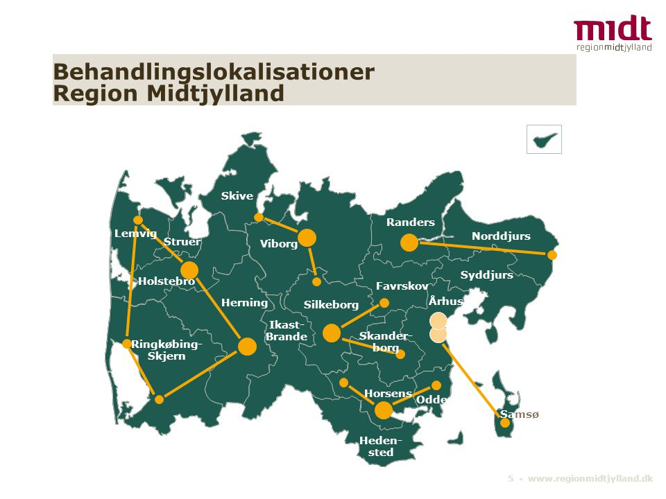 Behandlingslokalisationer Region Midtjylland