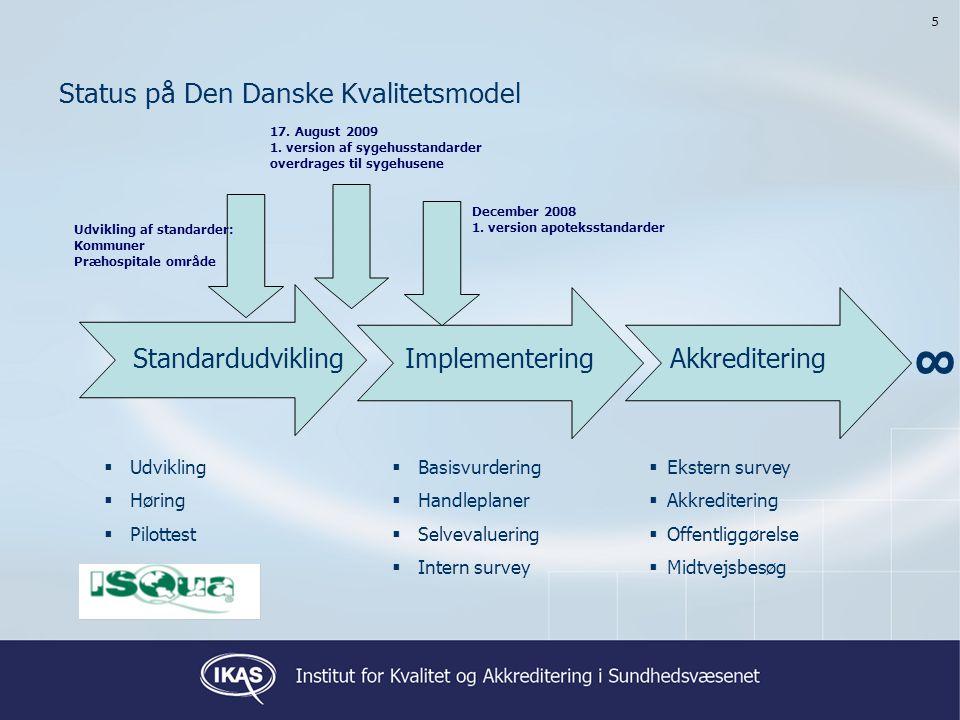 Status på Den Danske Kvalitetsmodel