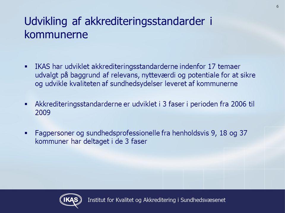 Udvikling af akkrediteringsstandarder i kommunerne
