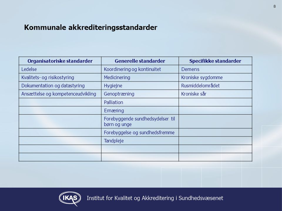 Kommunale akkrediteringsstandarder