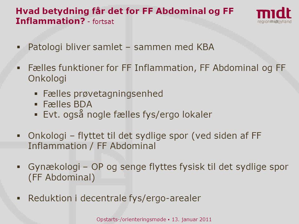 Hvad betydning får det for FF Abdominal og FF Inflammation - fortsat