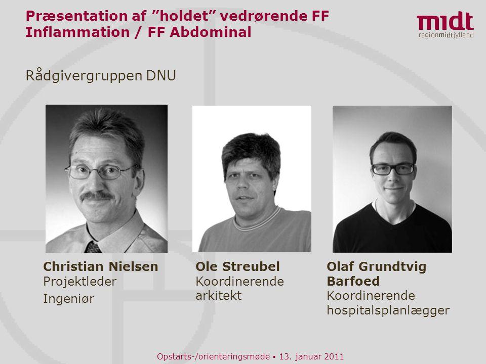 Præsentation af holdet vedrørende FF Inflammation / FF Abdominal
