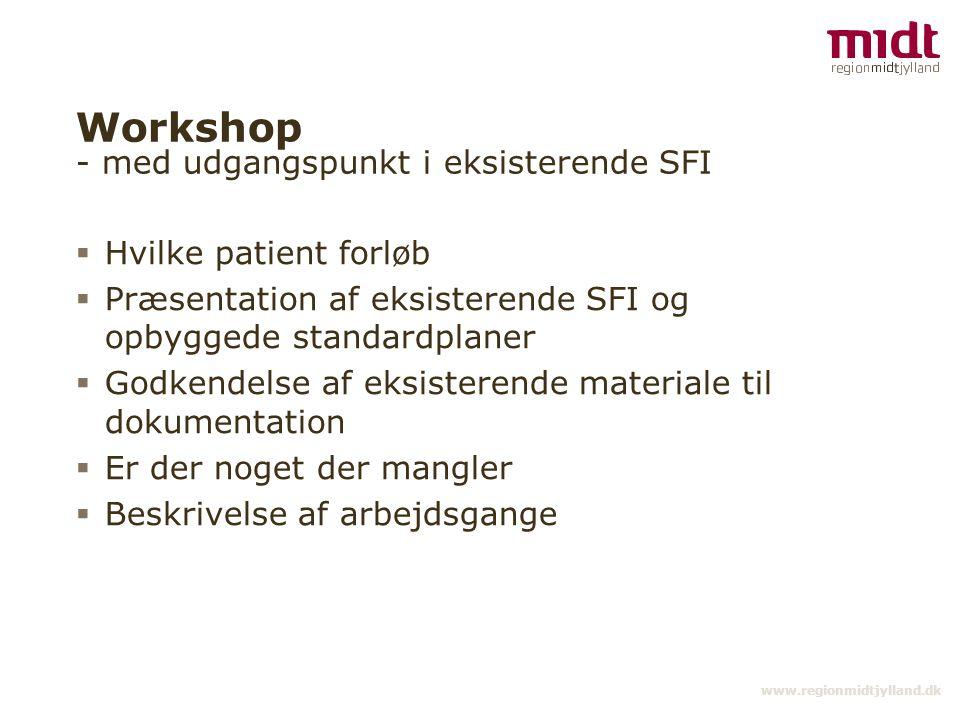 Workshop - med udgangspunkt i eksisterende SFI