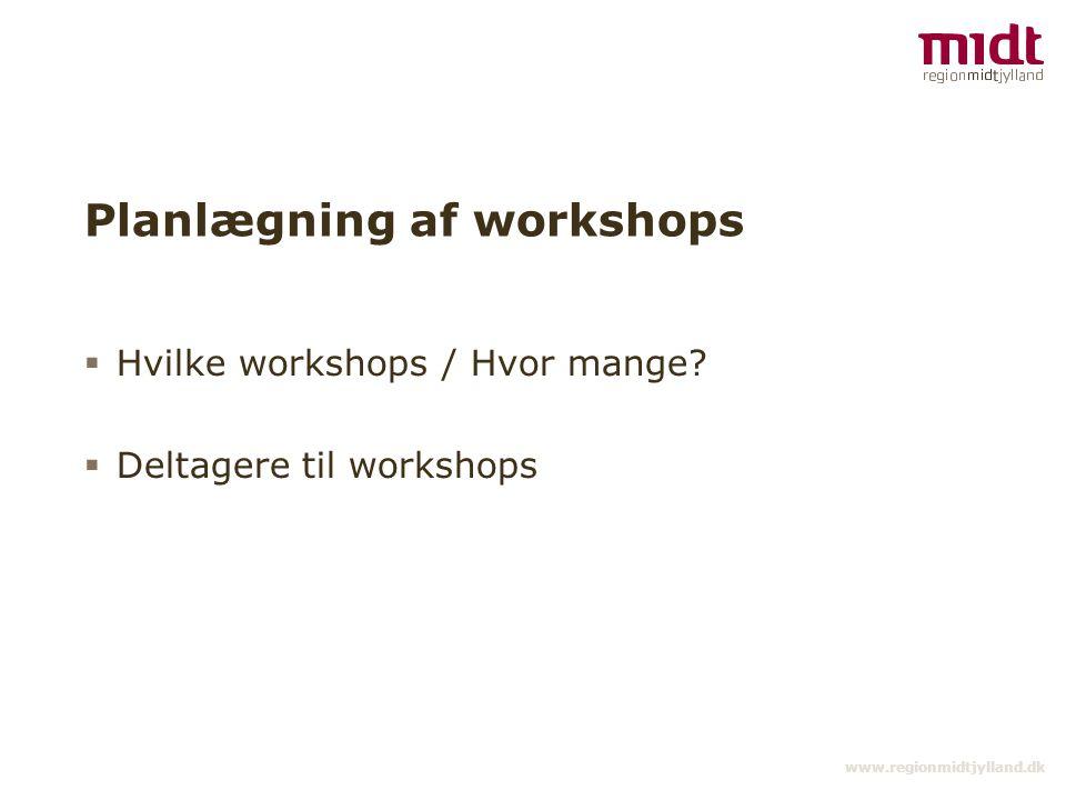Planlægning af workshops