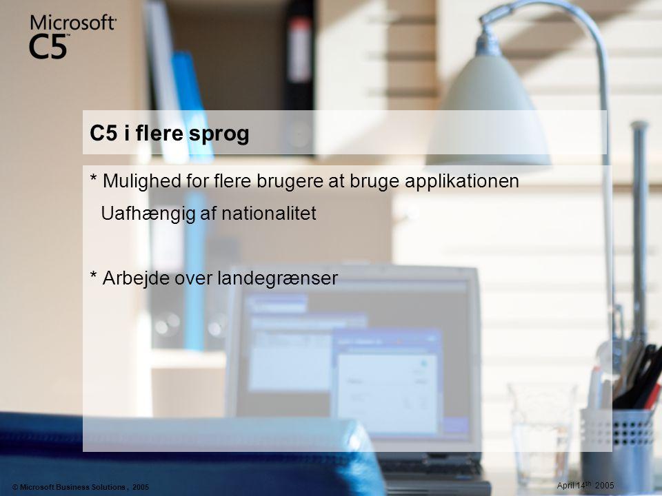 C5 i flere sprog * Mulighed for flere brugere at bruge applikationen
