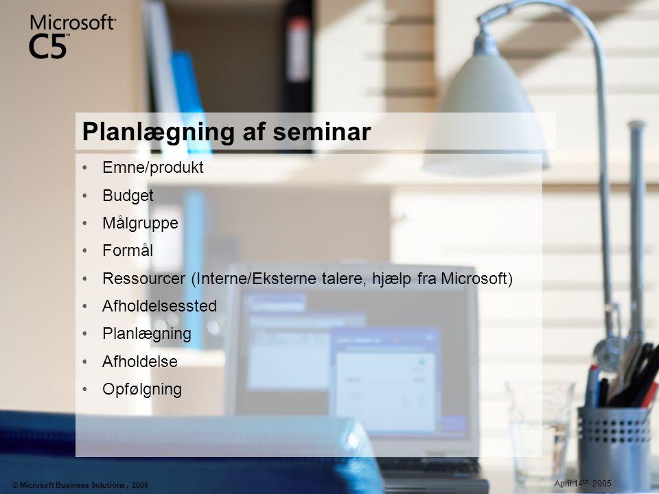 Planlægning af seminar