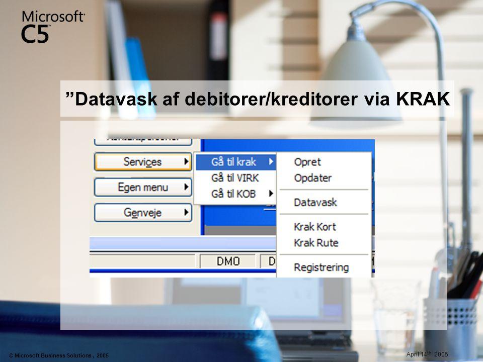 Datavask af debitorer/kreditorer via KRAK