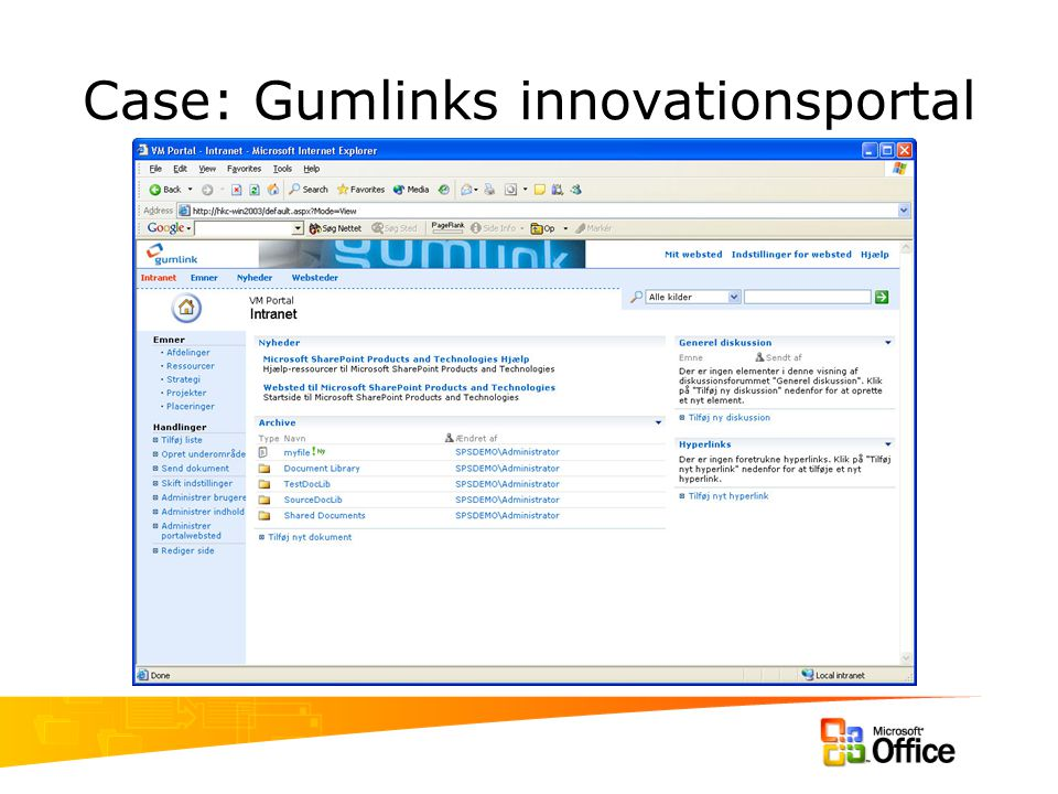 Case: Gumlinks innovationsportal