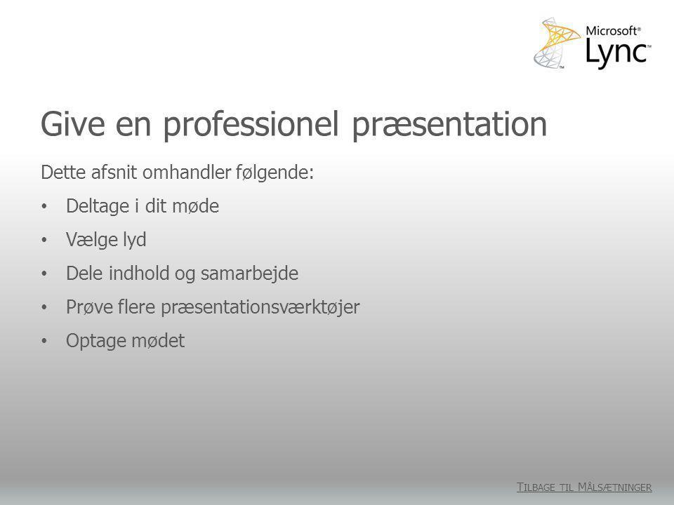 Give en professionel præsentation