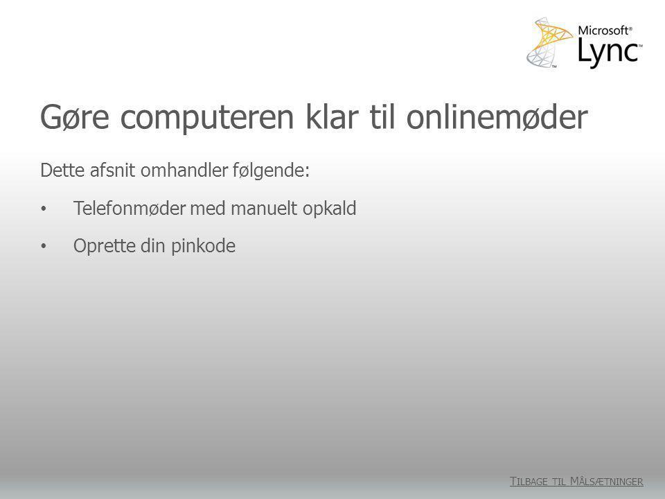 Gøre computeren klar til onlinemøder