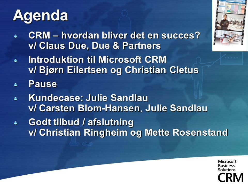 Agenda CRM – hvordan bliver det en succes v/ Claus Due, Due & Partners.