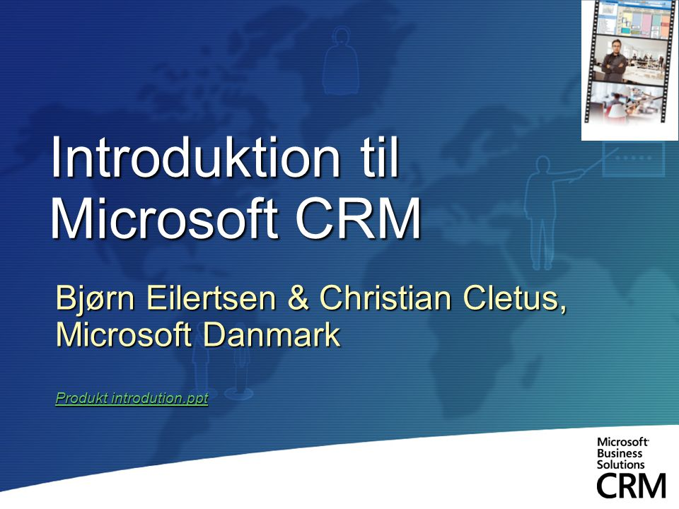 Introduktion til Microsoft CRM