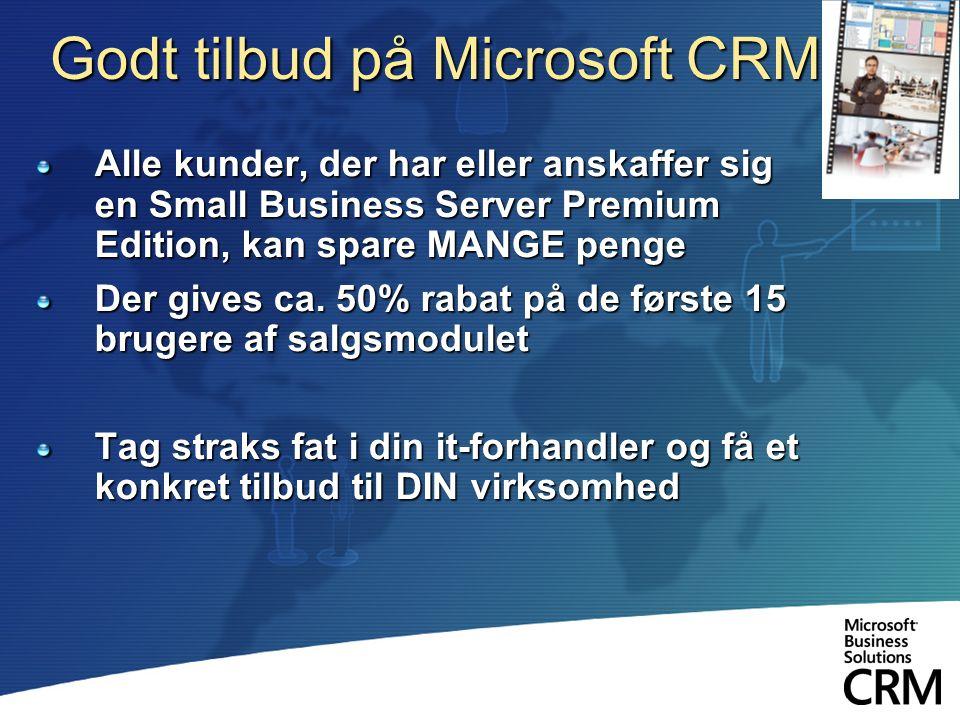 Godt tilbud på Microsoft CRM