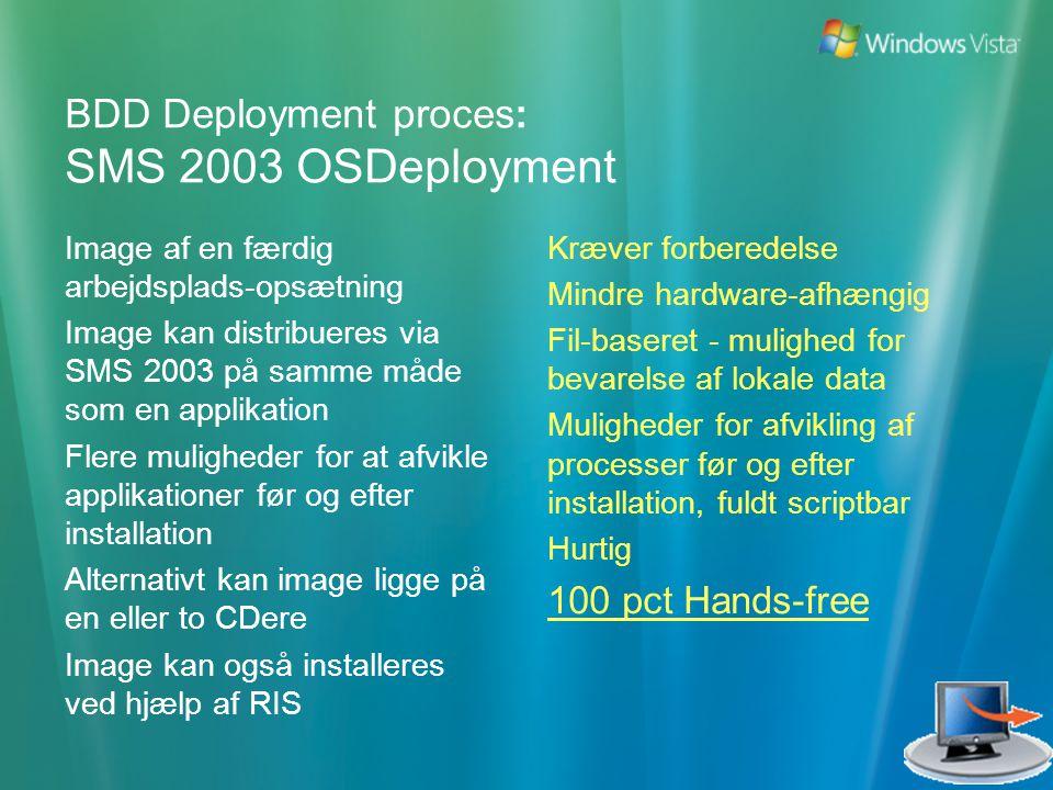 BDD Deployment proces: SMS 2003 OSDeployment