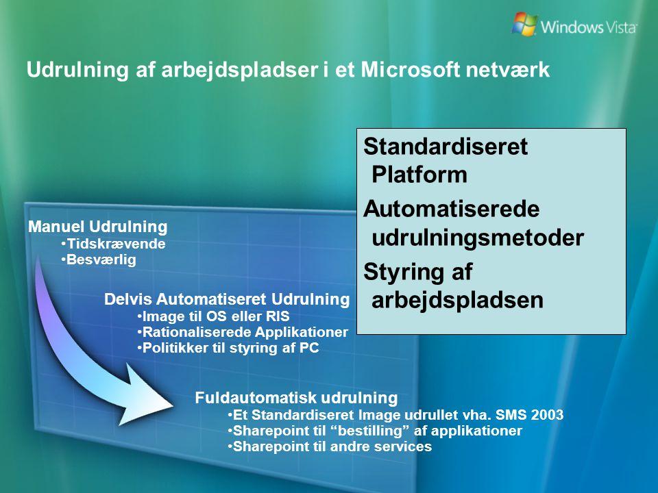 Udrulning af arbejdspladser i et Microsoft netværk