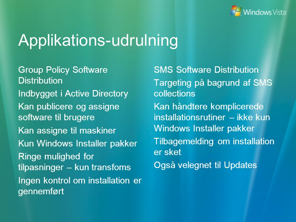 Applikations-udrulning