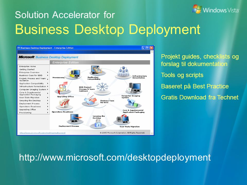 Solution Accelerator for Business Desktop Deployment