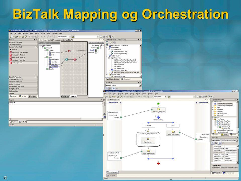 BizTalk Mapping og Orchestration