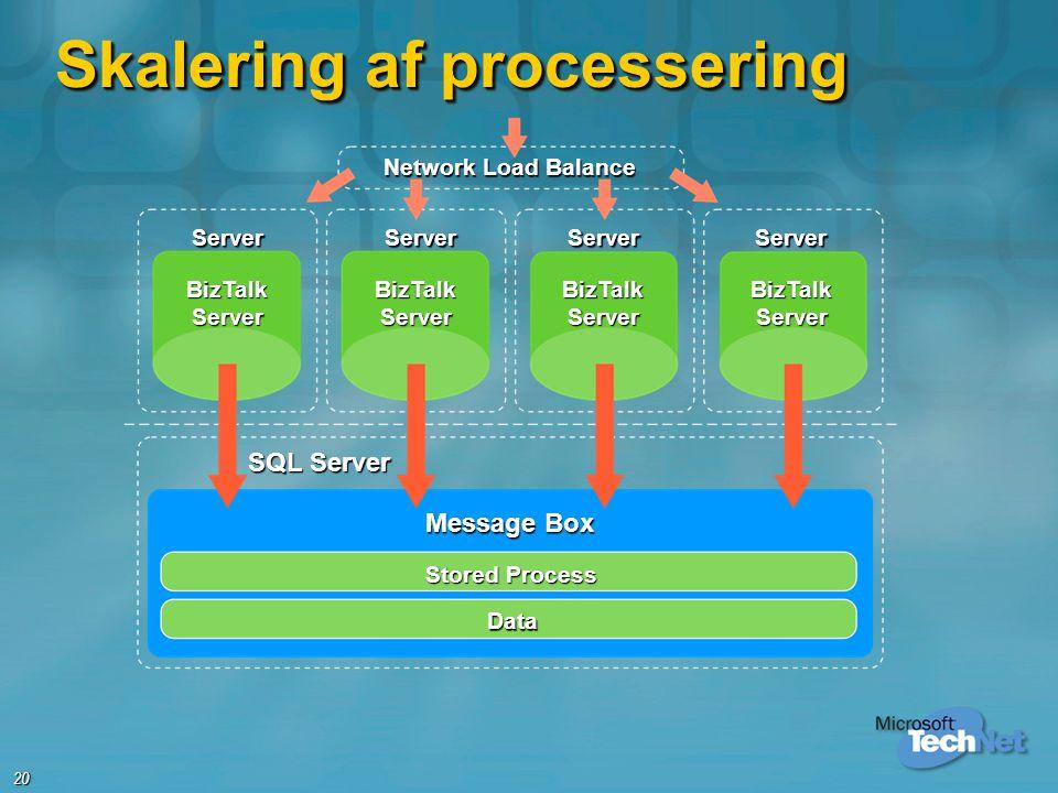 Skalering af processering