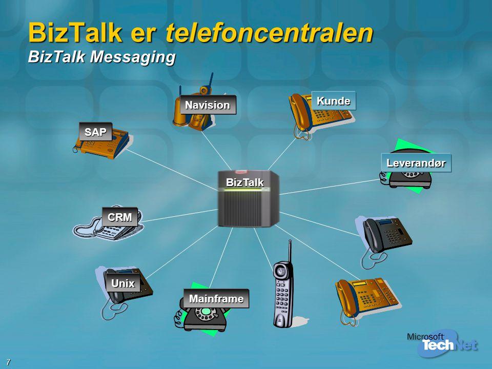 BizTalk er telefoncentralen BizTalk Messaging