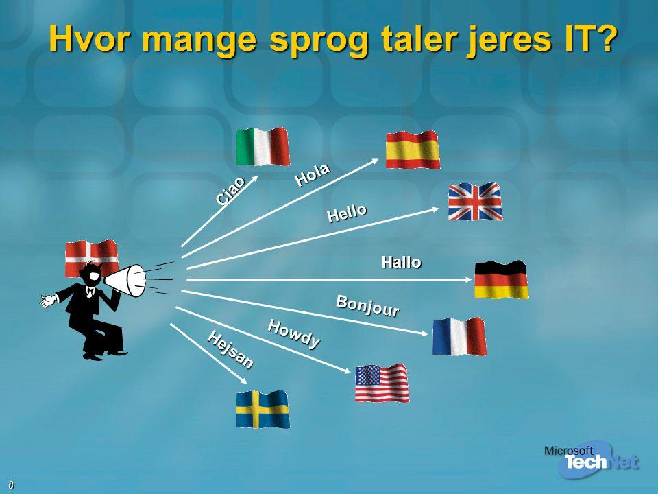 Hvor mange sprog taler jeres IT