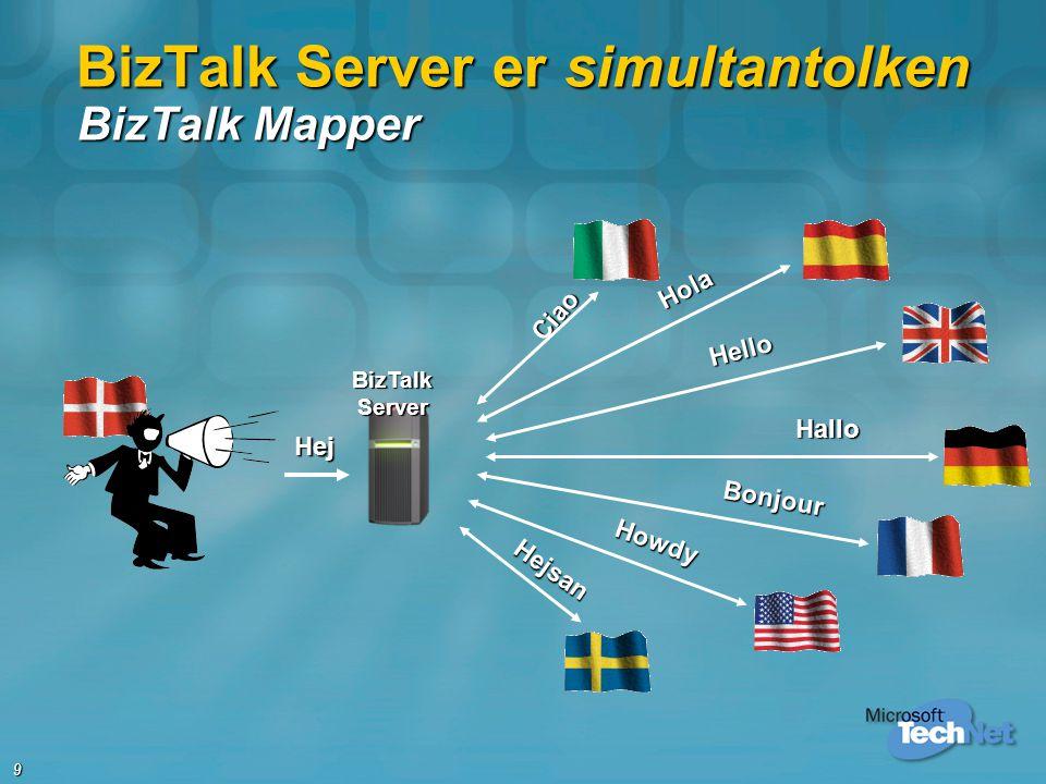 BizTalk Server er simultantolken BizTalk Mapper