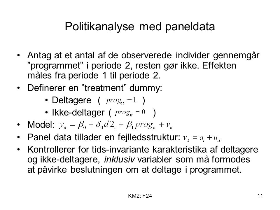 Politikanalyse med paneldata