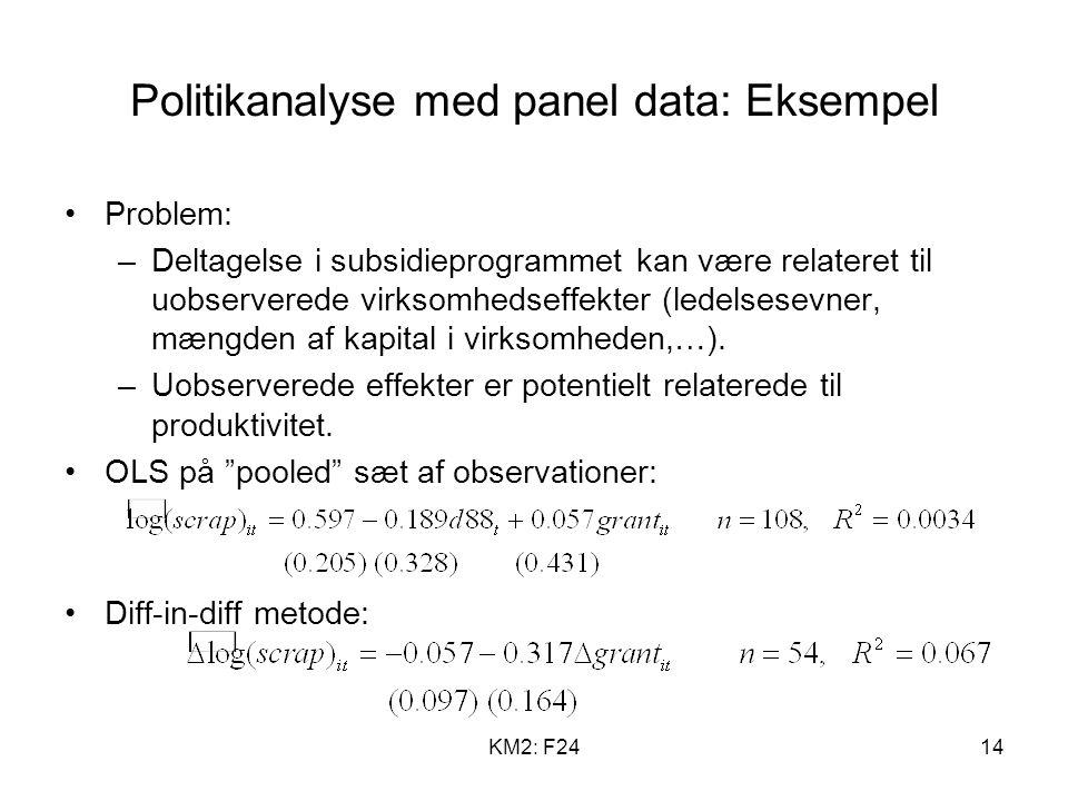 Politikanalyse med panel data: Eksempel
