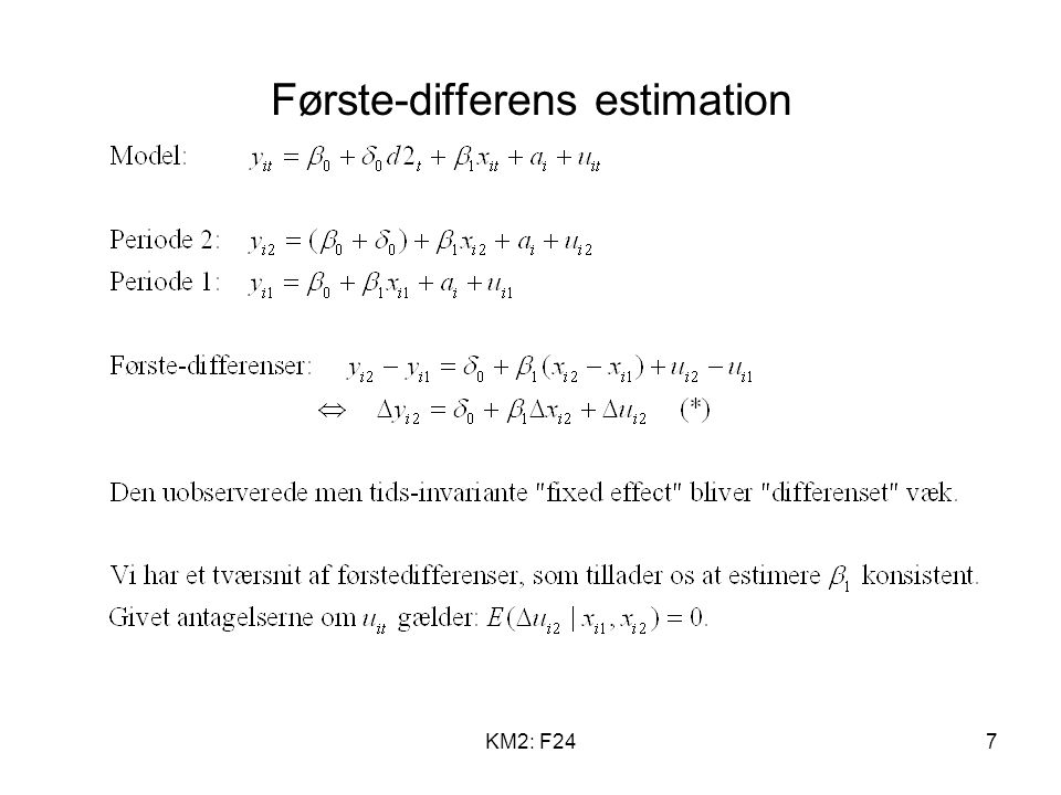Første-differens estimation