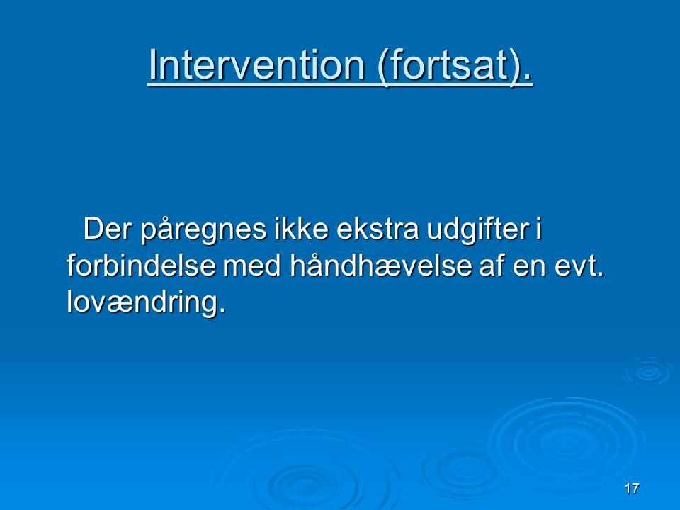 Intervention (fortsat).