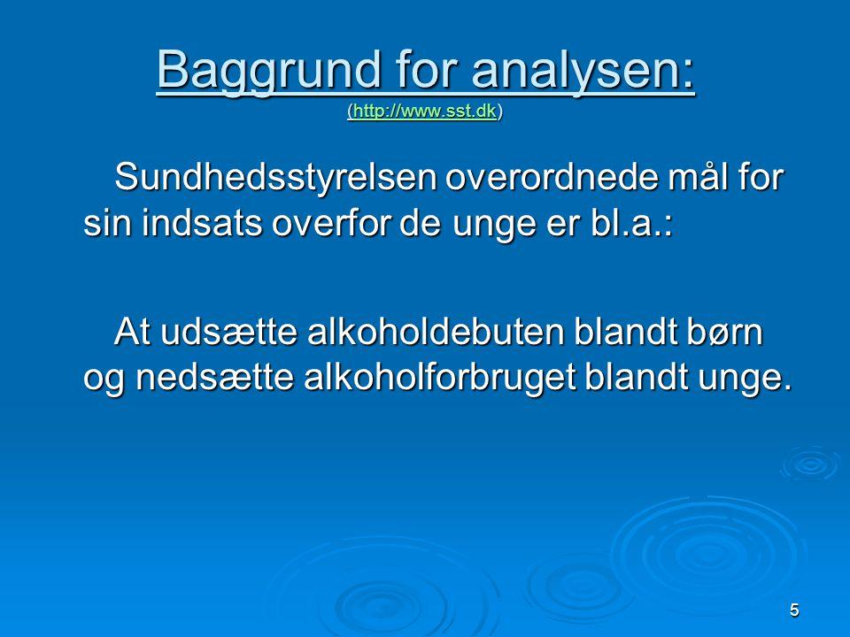 Baggrund for analysen: (http://www.sst.dk)