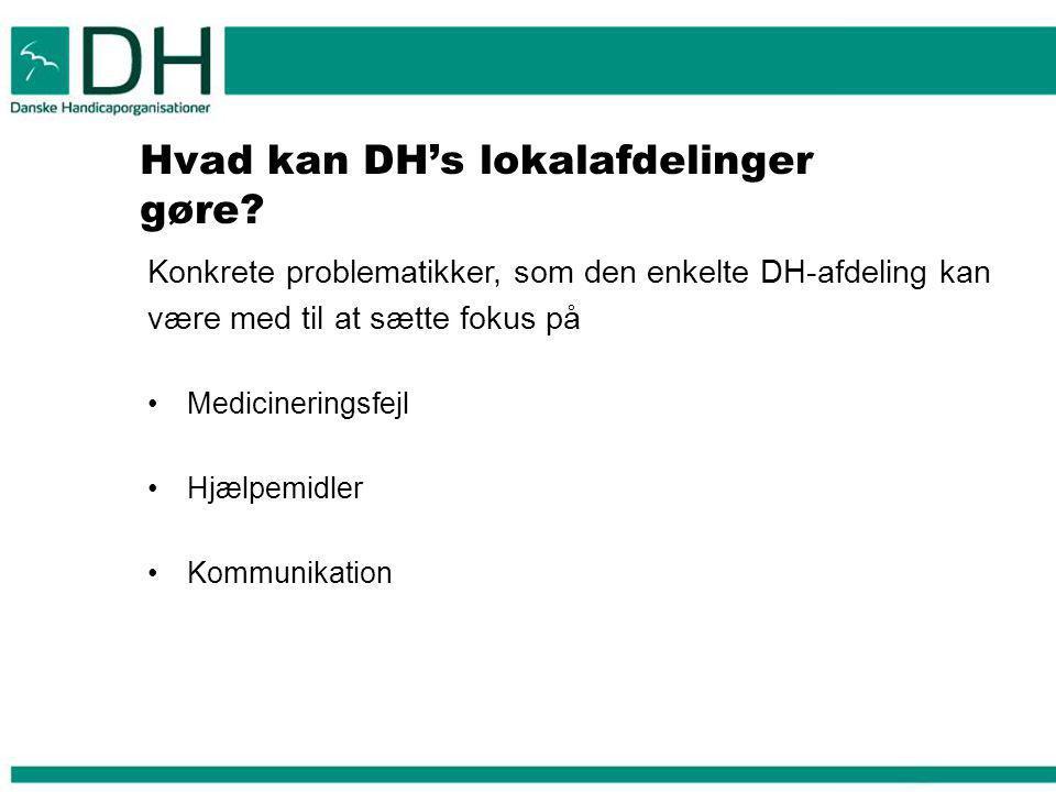 Hvad kan DH's lokalafdelinger gøre