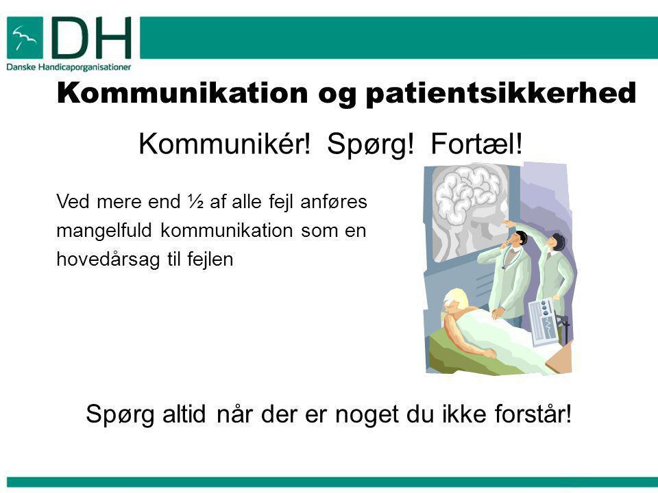 Kommunikation og patientsikkerhed