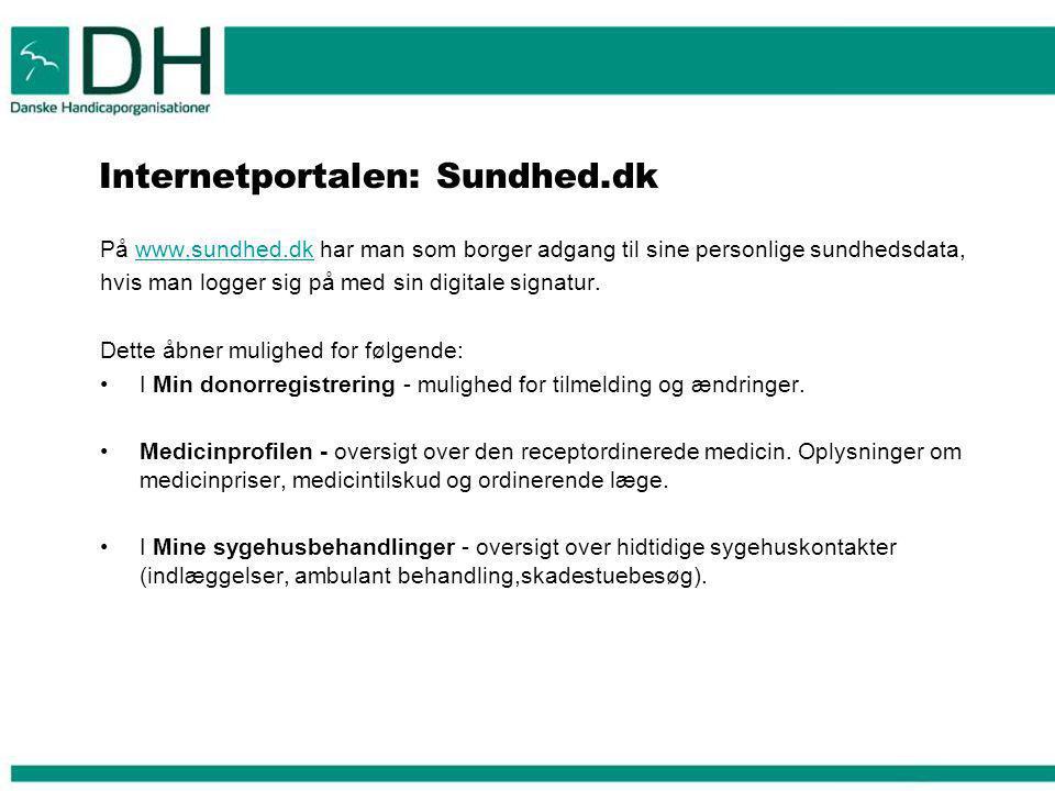 Internetportalen: Sundhed.dk