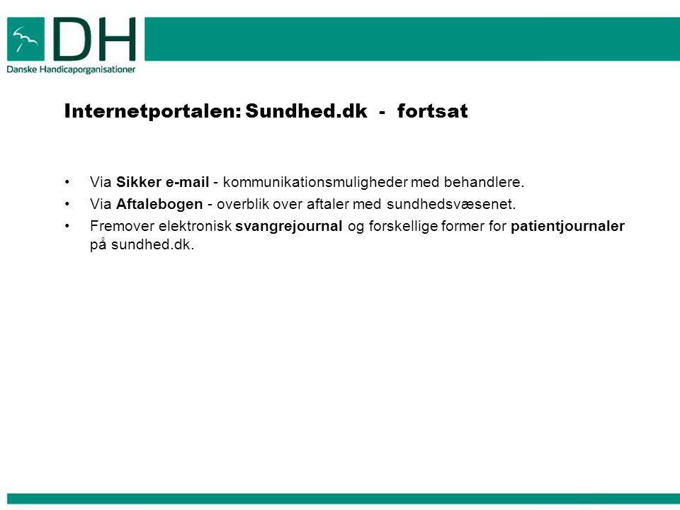 Internetportalen: Sundhed.dk - fortsat