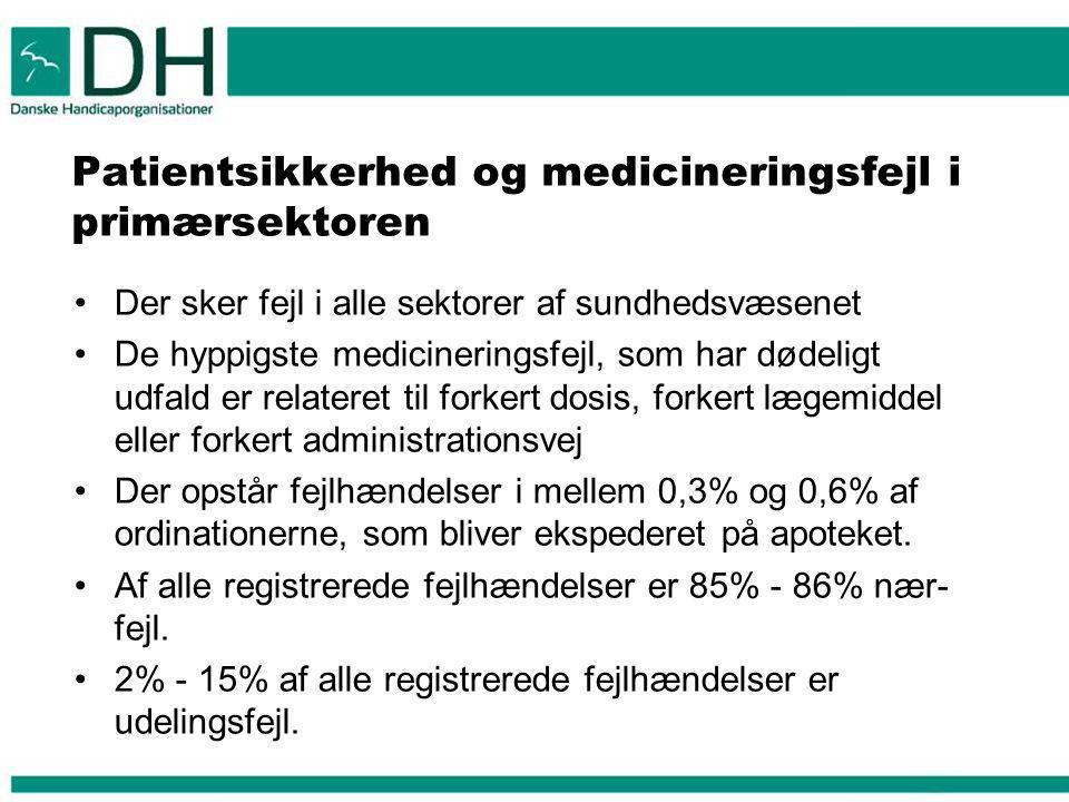 Patientsikkerhed og medicineringsfejl i primærsektoren