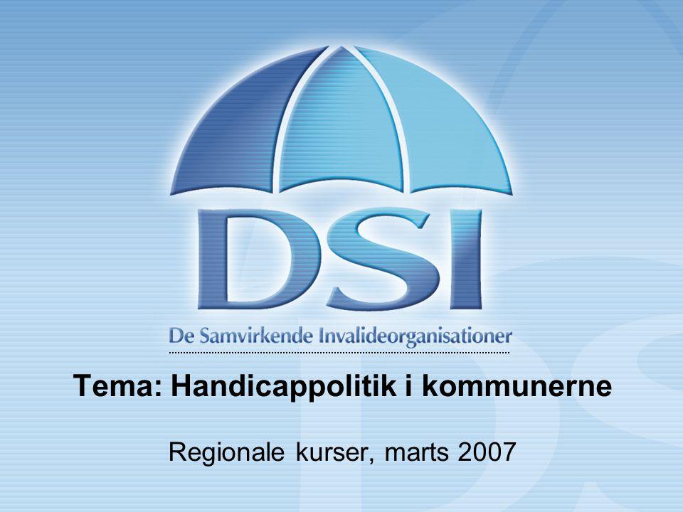 Tema: Handicappolitik i kommunerne