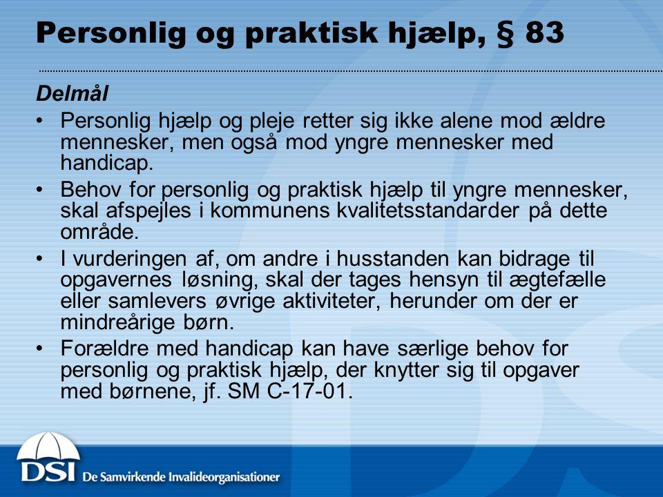 Personlig og praktisk hjælp, § 83