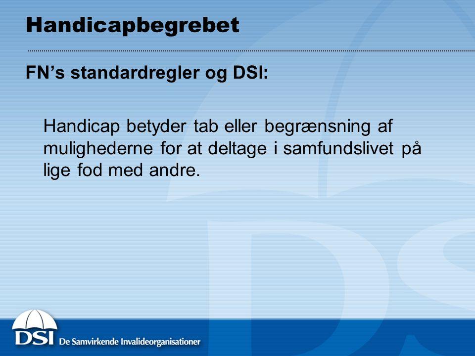 Handicapbegrebet FN's standardregler og DSI: