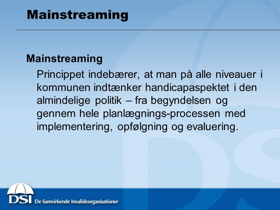 Mainstreaming Mainstreaming