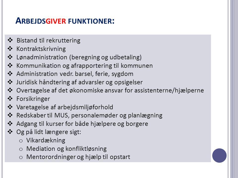 Arbejdsgiver funktioner: