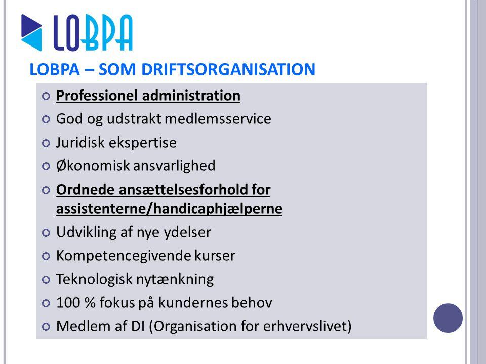 LOBPA – SOM DRIFTSORGANISATION