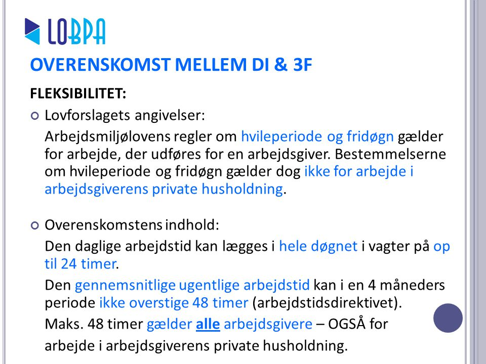 OVERENSKOMST MELLEM DI & 3F