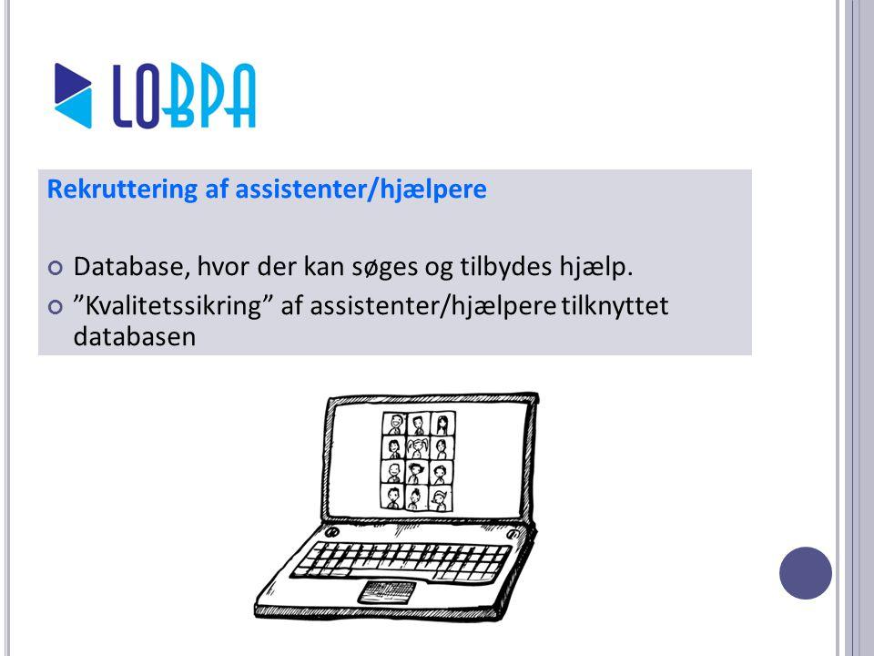 Rekruttering af assistenter/hjælpere