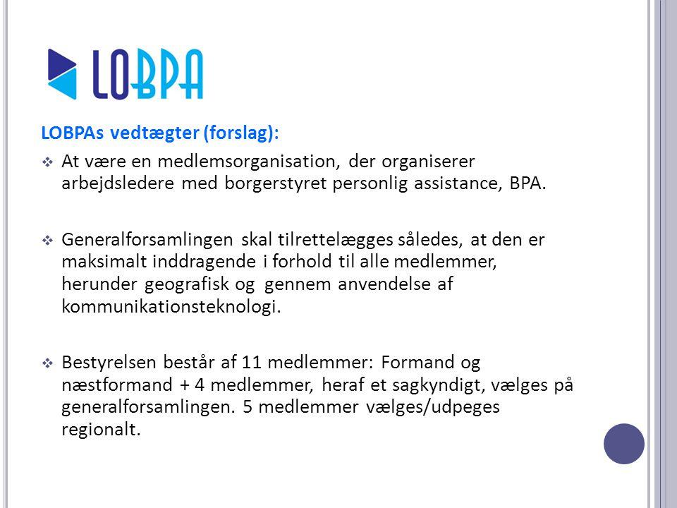 LOBPAs vedtægter (forslag):