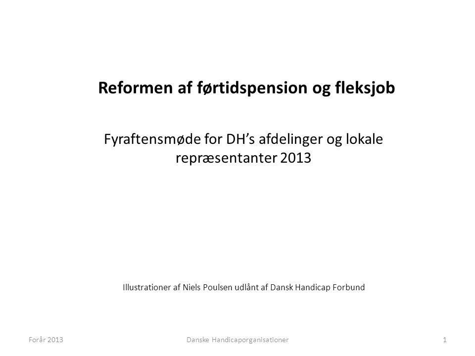 Reformen af førtidspension og fleksjob